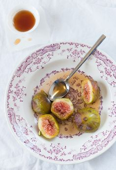 Honey Poached Figs - a healthy choice of dessert.