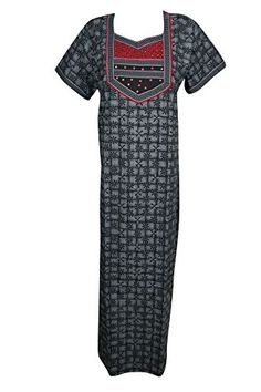 3fcff7d7a9 Mogul Interior Womens Maxi Dress Caftan Printed Boho Summ... https://