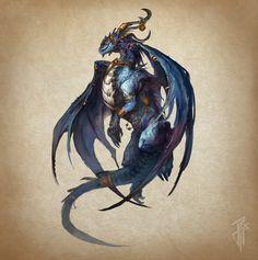 Blue Dragon, Julien Carrasco on ArtStation at https://www.artstation.com/artwork/lz3Ra