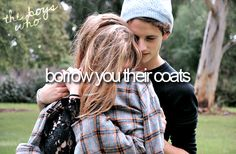 "*sigh* borrow you their coat...smh at the terrible terrible choice of words here....""borrow you"". still shaking my head."