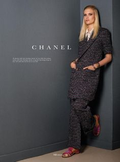 Spring Fashion 2015 Preview: Yulia Terentieva by Benjamin Kanarek for Elle Vietnam February 2015 - CHANEL Spring 2015