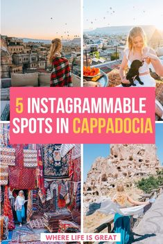 A Secret Photo Guide to Cappadocia! Here are the 5 Most Instagrammable Places in Cappadocia. My epic Cappadocia photo guide to take epic Instagram shots. #turkey #cappadocia
