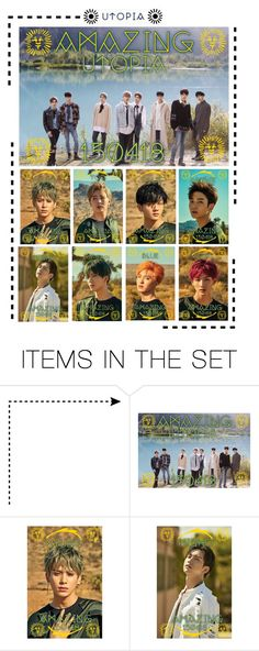 """""""[ Teaser Photos ] Utopia • Amazing"""" by wlment ❤ liked on Polyvore featuring art"""