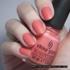 China Glaze Mimosa's Before Mani's www.chelseasgetnailed.com