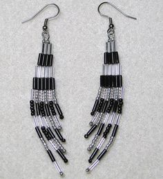Shimmery Fringe Earrings