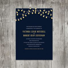 party lights wedding invitation #wedding