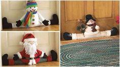 Para evitar la entrada de polvo, insectos o evitar el escape del aire acondicionado los cubre puertas resultan ser muy útiles, pero ¿Qué tal darles un toque navideño y nos ayuden a decorar las puertas de una manera diferente? De eso se tratan estas ideas, de decorar los cubre puertas con motivos navideños. Pueden ser en forma de muñeco de nieve, renos, santa o algún sencillo, con forro navideño. No importa como sea, pero con el detalle navideño le darás otra vista a tu puerta y se verá… Kids Rugs, Ideas, Home Decor, Shape, Elegant Christmas, Nativity, Christmas Themes, Cover, Insects