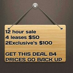 Get this deal b4 prices go back up !!