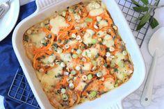Zoete aardappelgratin met mozzarella