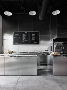 Modern open kitchen restaurant design open kitchen at bad lab beer co restaurant kitchen cabinets . Restaurant Kitchen Design, Modern Restaurant, Restaurant Interior Design, Cafe Restaurant, Kitchen Interior, Restaurant Restaurant, Layout Design, Küchen Design, Cafe Design