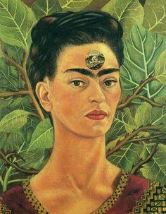 Thinking About Death, 1943 #FridaKahlo