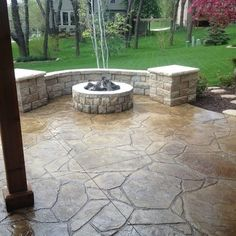 Stamp Concrete Patio Home Design Ideas, Pictures, Remodel And Decor