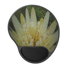 Gel mousepad with yellow Protea flower