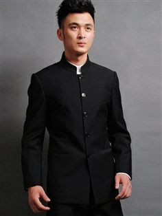 3afada1e9 Chinese Suit Jacket | Mens Vintage High Collar Chinese Tunic Suit ...