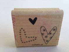 Three Hearts - Wacky - Fun - Texture Vintage Rubber Stamp - Card Making - Crafts  161012C by SirStampinton