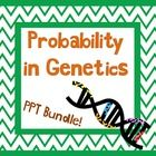 Probability in Genetics PowerPoint I used with 7th grade.  This would be after they have learned the basics.  Covers how the passing of genes follows patterns that we can predict and introduces Punnett Squares,  This bundle includes PowerPoint, Student Notes, Punnett Square Practice worksheet, and answer key! http://undeniabledabbler.blogspot.com/
