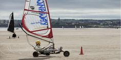 Land yachting on West Sands beach,a perfect windy day activity.