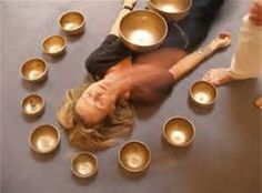 """Tibetan singing bowls are 'struck and sung' in specific rhythmic patterns to create vibrational sound harmonics at the frequency of """"AUM"""" or """"OM"""". This sound frequency known as that of Perfection impacts the sympathetic nervous system as your brain waves synchronize to the vibrations of the bowls. The harmonic vibrations engage the relaxation reflex and slow down the respiratory, brain and heart rate and disrupt the pain reflex creating a deep sense of well being."""