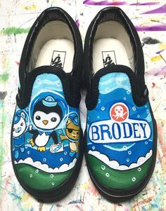 Octonauts inspired custom painted shoes