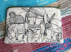 Your Doodle Whimsy Clutch. $27.00, via Etsy.