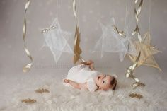 star, glitter, birdie baby, holiday glam, ME Photography, gold, mini session