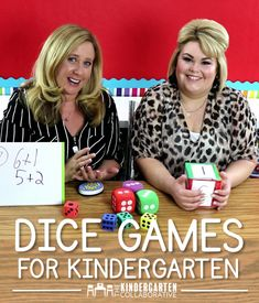 Do you have all these dice in your class but need inspiration for some fun games to play with them?  Today we are sharing our favorite dice games perfect for your kindergarten (and even first grade) classrooms.  Join us at The Kindergarten Collaborative for lots of other great ideas for your classroom (and download our Free Guide to Kindergarten too!)