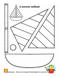 4 Printable Activities for Kids Coloring Pages Printable Sailboat Shape Kids Printable √ Printable Activities for Kids . 4 Printable Activities for Kids. Printable First Fruits Worksheet for Kids Kids Crafts, Boat Crafts, Summer Crafts, Toddler Crafts, Preschool Crafts, Arts And Crafts, Cutting Activities, Activities For Kids, Kids Printable Activities