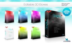 3D Boxes Desgins by Sheikh Naveed, via Behance