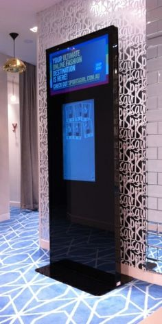 An interactive online fashion centre in the fitting room, would be great for waiting customers.