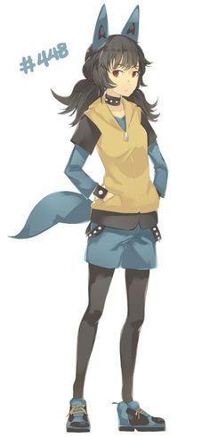 Pokémon - 448 lucario art by Pan8 (Sankaku Channel)