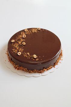 Chocolate hazelnut praline cake – lyg – Famous Last Words Praline Chocolate, Praline Cake, Chocolate Hazelnut, Chocolate Cake, Hazelnut Praline, Entremet Praline, Dacquoise, Fancy Cake, Cake Decorating Amazing