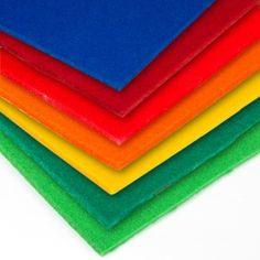 FIELTRO SINTÉTICO 3 Y 5 MM (A METROS) El fieltro sintético colores de 3 y 5 mm de grosor ofrece una amplia gama de colores para tapicería, confección y manualidades.   #MWMaterialsWorld #Fieltrosintético #Fieltrogrueso #Fieltromanualidades #Fieltrodecolores #ColouredFelt Material World, Textiles, Plastic Cutting Board, Google, Blinds Curtains, Fabrics, Textile Art