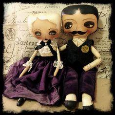 Spooky Halloween art dolls
