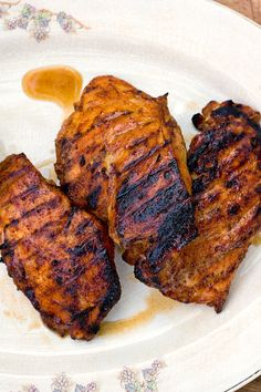 NYT Cooking: Brown sugar gives these grilled chicken breasts a glistening glaze and caramel-like sweetness, while mustard powder and cayenne add an earthy kick. If you don't want to bother making a mustard sauce for dipping, just serve these with dollops of good, strong Dijon mustard on the side. A crisp salad and some grilled corn completes the meal. And if you prefer dark meat, t...