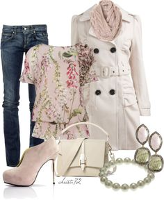 """""""Pink Florals"""" by christa72 on Polyvore"""