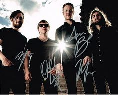 Imagine Dragons Authentic Group Signed 8x10 Autograph Photo - Dan Reynolds, Ben McKee, Wayne 'Wing' Sermon, Daniel Platzman