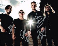Imagine Dragons Authentic Group Signed 8x10 Autograph Photo - Dan Reynolds, Ben McKee, Wayne 'Wing' Sermon, Daniel Platzman