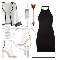 Untitled #59 by medinaxfash on Polyvore featuring polyvore fashion style Balmain Chicwish clothing