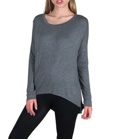 Look what I found on #zulily! Charcoal Hi-Low Top - Women #zulilyfinds
