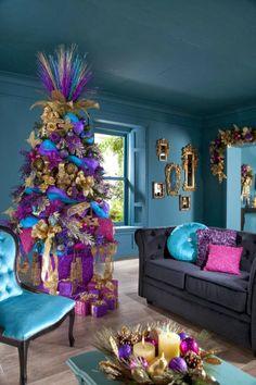 renkli yeni yıl dekorasyonu