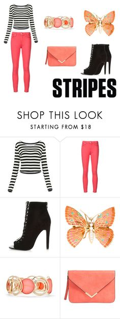 """Peach"" by marthabr on Polyvore featuring 7 For All Mankind, River Island and New Directions"