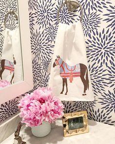 Equestrian hand towel & KK Mums the Word wallpaper