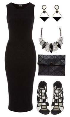 """""""Black + White = Geometric"""" by razziieyy ❤ liked on Polyvore featuring Gianvito Rossi, Bao Bao by Issey Miyake and Marni"""