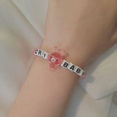 cry baby image on We Heart It Star Necklace, Heart Pendant Necklace, Kandi Bracelets, Beaded Bracelets, Cute Jewelry, Jewelry Accessories, Jewelry Shop, Jewlery, Cheap Jewelry