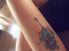 #tattoo #inked #rose #compass #diamond #tattooink