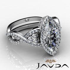 Marquise Diamond Engagement Antique Style Ring GIA G VS2 14k White Gold 2 68 Ct | eBay