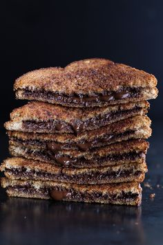 Grilled cinnamon toast + chocolate // would be a perfect GF treat with @udisglutenfree bread and Nutella!