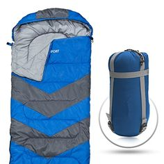 e39019b189e Abco Tech Sleeping Bag Envelope Lightweight Portable Waterproof Comfort  with Compression Sack - Great for 4 Season Traveling Camping Hiking Outdoor  ...