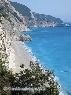Egremnoi (Lefkada)  One of the best kept secrets of Greece. Beautiful scenery, crystal clear turquoise water, and soft white coarse sand.