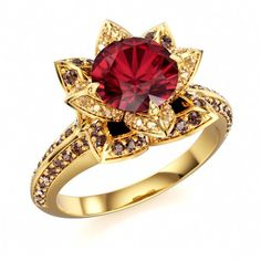 Multi Color CZ Engagement Disney Princess Ring in 14k Gold Plated 925 Silver 7 8